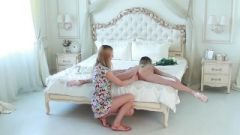 Slim Flexible Teen Doll Gets Stretched