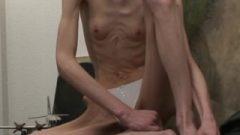 Anorexic Janine – Showing Off Wonderful Slender Wonderful Body