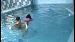 Naked Swim Lesson & Poolside Fuck With Tight Bony Teen_PART 1