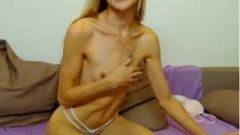 Cam Female Flexes Her Biceps