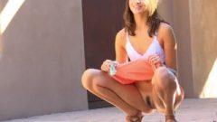 Arousing Roxanna Cute Slim Athletic Body